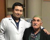75 yaşında gözü açıldı