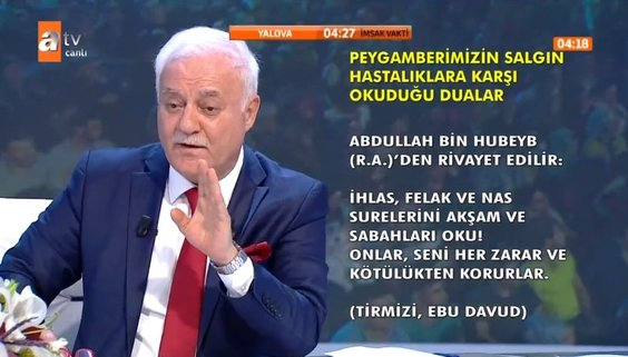 Prof. Dr. Nihat Hatipoğlu anlattı: İşte Peygamberimizin salgın hastalıklara karşı okuduğu dualar...
