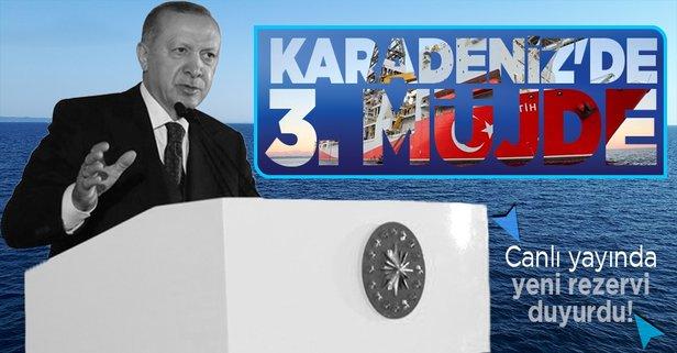Karadeniz'de yeni rezerv! Başkan Erdoğan açıkladı