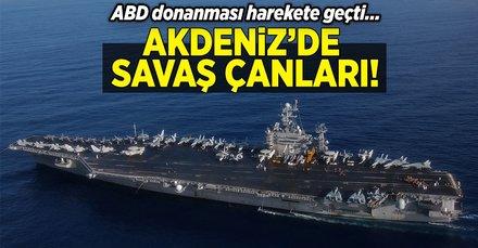 ABD donanması Harry Truman uçak gemisi ile diğer savaş gemilerini Akdeniz'e sevk ediyor.