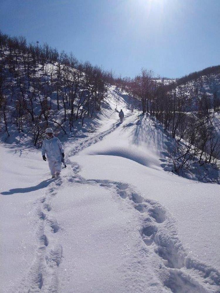 Bingölde ağır kış şartlarında PKKya operasyon