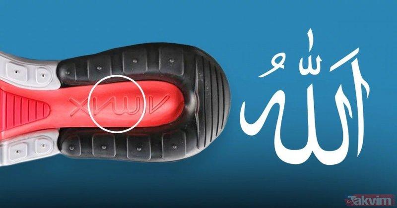 İslam düşmanı Nike'tan büyük skandal! Yeni ayakkabının altına Allah yazdı