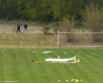 Komşu'da uçak düştü: 2 ölü!