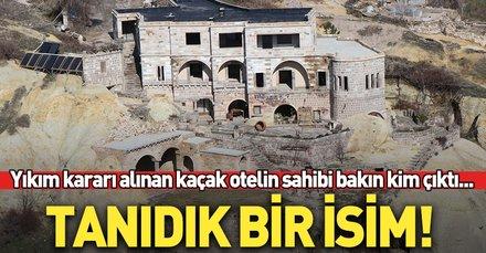 Kapadokya'da 15 kaçak binanın yıkımına başlandı
