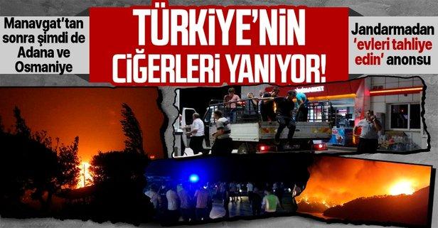Kozan'da orman yangını! Köyler tahliye ediliyor...