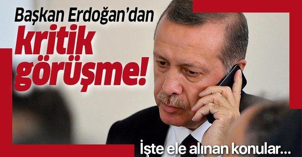 Başkan Erdoğan'dan kritik görüşme!