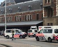 Amsterdamda korku dolu anlar! Vurularak durduruldu