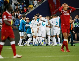 Real Madrid-Liverpool maçından kareler
