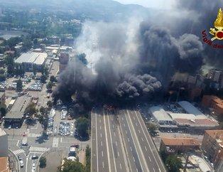 Son dakika... İtalyada şiddetli patlama!