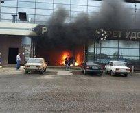 Rusya'da AVM yangını! 200 kişi...
