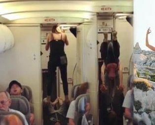 Yolcular hayrete düştü! Bu hareketleri yapmaya başlayınca...