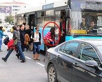 Asena otobüse bindi ayakta kaldı!
