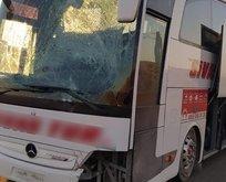 Askerleri taşıyan otobüs kaza yaptı!