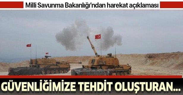 MSB'den Barış Pınarı Harekatı'na ilişkin açıklama!