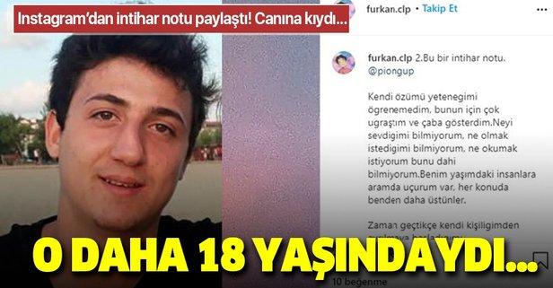 Instagram hesabından intihar notu paylaşıp canına kıydı!