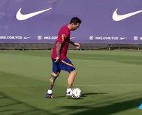 Messi Barcelona ile idmanlara çıktı