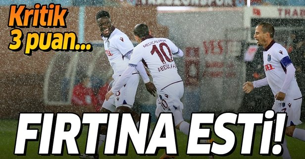 Trabzonspor'dan kritik 3 puan!