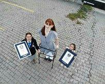 İşte dünyanın en uzun kadını! Rekor tazeledi