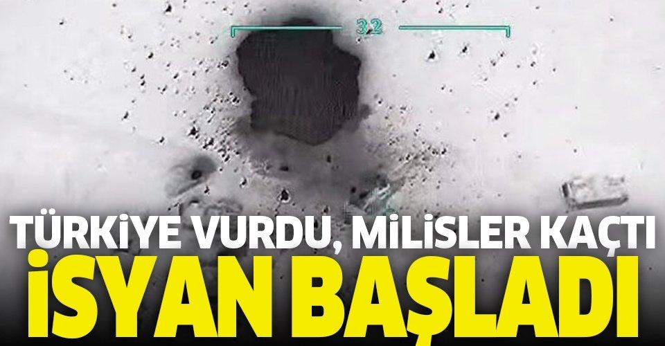 Türkiye vurdu, milisler kaçtı! İsyan başladı