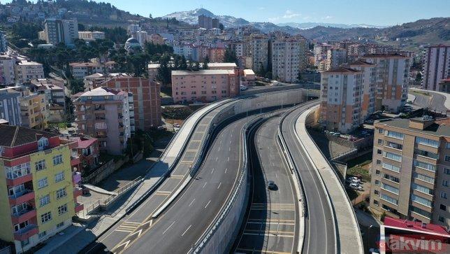 Karadeniz'de trafiği rahatlatacak projede sona doğru! Yüzde 60'ı tamamlandı