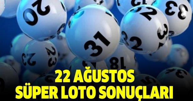 22 Ağustos Süper Loto çekiliş sonuçları açıklandı!