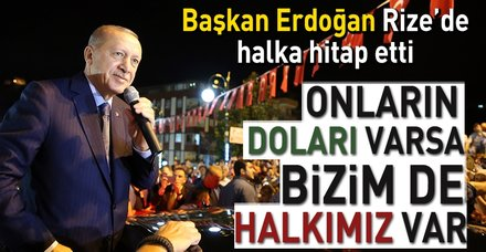 Başkan Erdoğan Rize'de konuştu