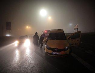İstanbul'da yoğun sis kazalara neden oldu