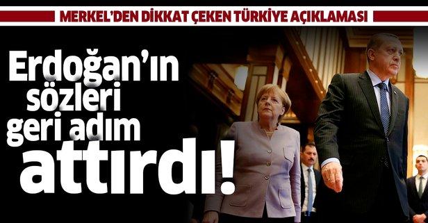 Erdoğan'ın sözleri geri adım attırdı