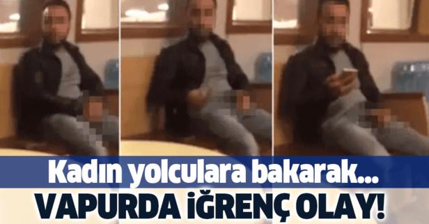 Karaköy - Kadıköy vapurunda rezalet görüntü