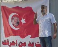 Türk bayrağı yakan alçaklara tokat gibi yanıt