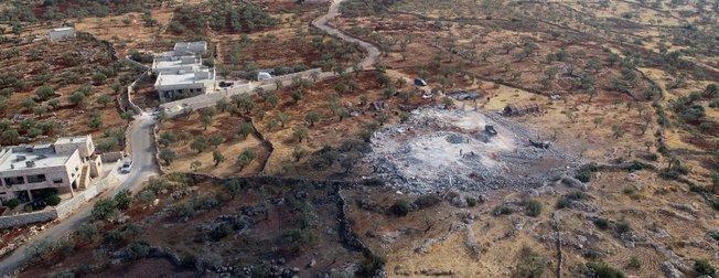 Bağdadi'nin ölü ele geçirildiği yer havadan görüntülendi