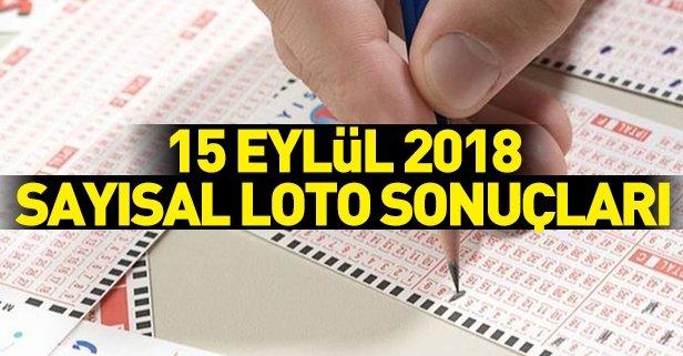 15 Eylül 2018 Sayısal Loto sonuçları belli oldu! Sayısal Loto 1149. hafta çekilişi