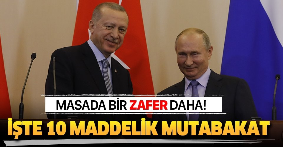 Başkan Erdoğan ve Putin Soçi'deki tarihi zirvede açıkladı! İşte Türkiye ve Rusya arasındaki tarihi mutabakat metni
