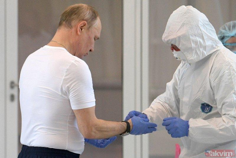 Putin'den tehlikeli hamle! Koronavirüs hastalarını ziyaret etti