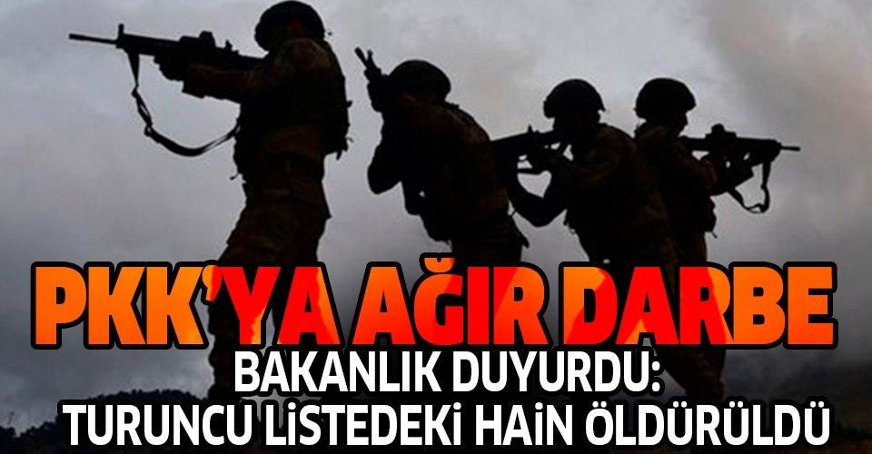 Son dakika: İçişleri Bakanlığı duyurdu: Turuncu listedeki terörist öldürüldü