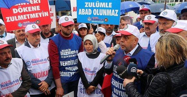Hak-İş'ten CHP'li belediyelerdeki işçi kıyımına karşı yürüyüş