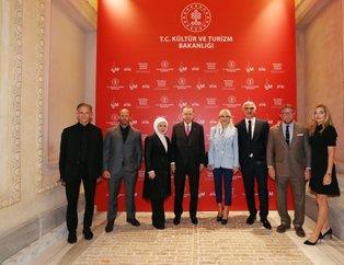 Başkan Erdoğan 'Tarihi Atlas Sineması'nın açılışını yaptı! Jason Stahham ve Guy Ritchie sürprizi...