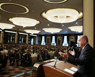 Başkan Erdoğan Külliyede muhtarlar buluşmasında konuştu