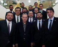 Cumhurbaşkanı Erdoğan'dan TBF'ye ziyaret