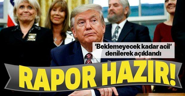 Donald Trump'a kötü haber! Azil soruşturması raporu hazır!