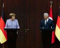 Yıldırım ve Merkel'den ortak basın toplantısı