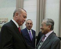 Başkan Erdoğan, Mahathir Muhammed ile görüştü