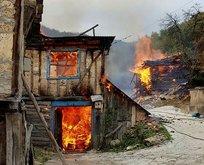 Kastamonuda yangın felaketi! 8 ev alevler içinde