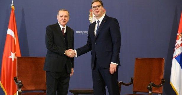 Vucic'ten Cumhurbaşkanı Erdoğan'a tebrik