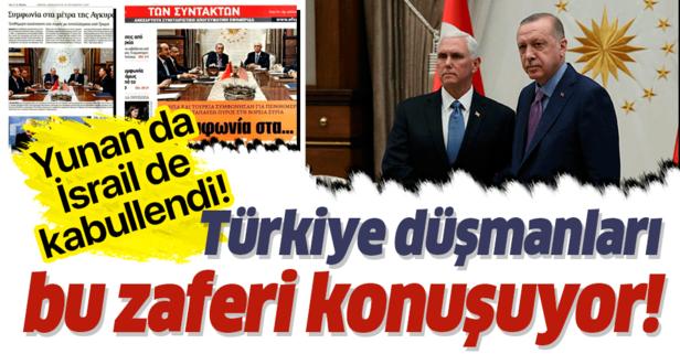 İsrail ve Yunanistan Türkiye'nin zaferini konuşuyor