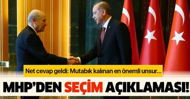 MHP'den seçim açıklaması!