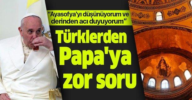 Türklerden Papa'ya zor soru