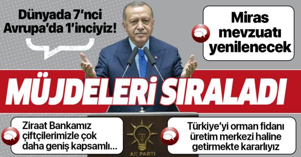 Başkan Erdoğan'dan çiftçilere müjdeleri sıraladı