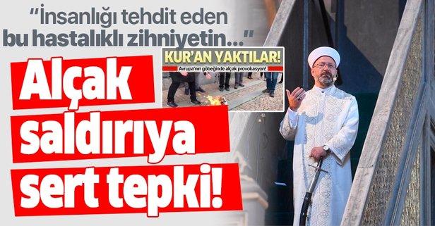Erbaş'tan alçak saldırıya kınama!