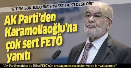 Son dakika: AK Parti'den Temel Karamollaoğlu'na flaş FETÖ yanıtı
